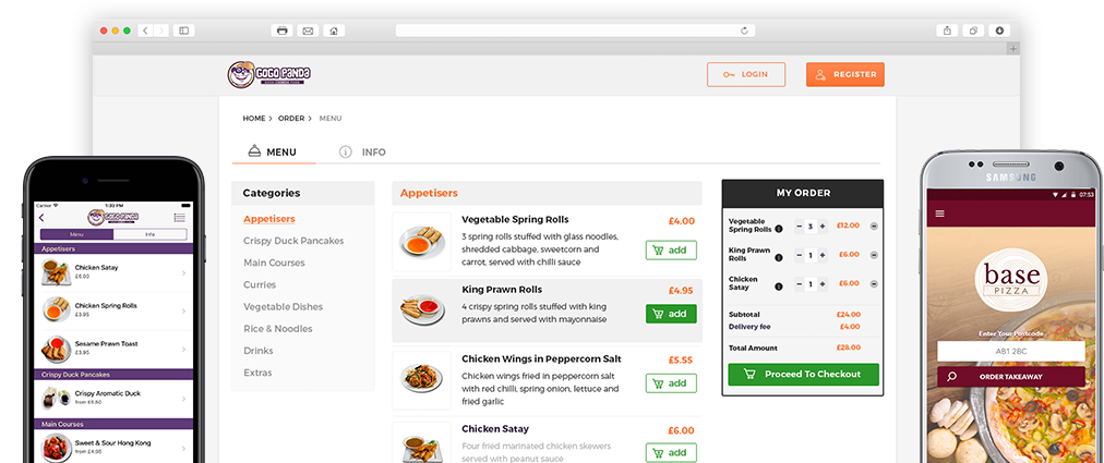 Online Ordering System for Restaurants & Takeaways