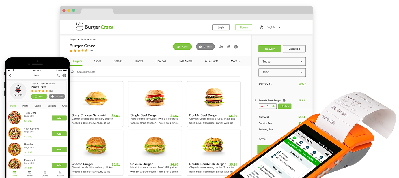 Online Ordering System For Restaurants Order Tiger